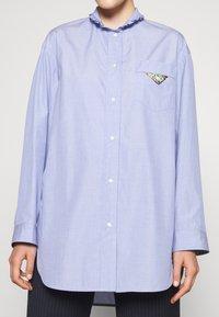 sandro - Button-down blouse - bleu ciel - 5