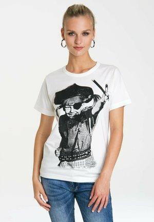 Print T-shirt - altweiss