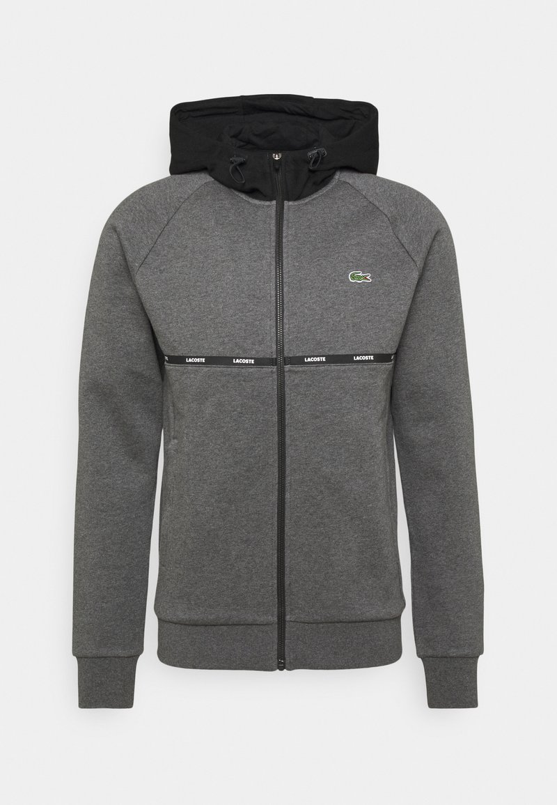Lacoste Sport - Zip-up hoodie - pitch chine/black/white