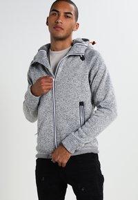 Superdry - STORM DOUBLE ZIPHOOD - Zip-up hoodie - grey grit - 0