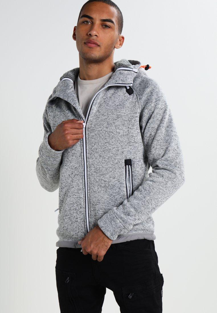 Superdry - STORM DOUBLE ZIPHOOD - Zip-up hoodie - grey grit