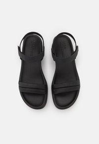 ECCO - FLOWT WEDGE  - Platform sandals - black - 5