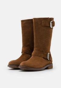 Shabbies Amsterdam - Cowboy/Biker boots - cognac - 2