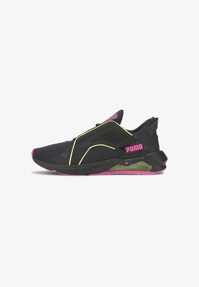 Sneaker low - black-yellow-luminous pink