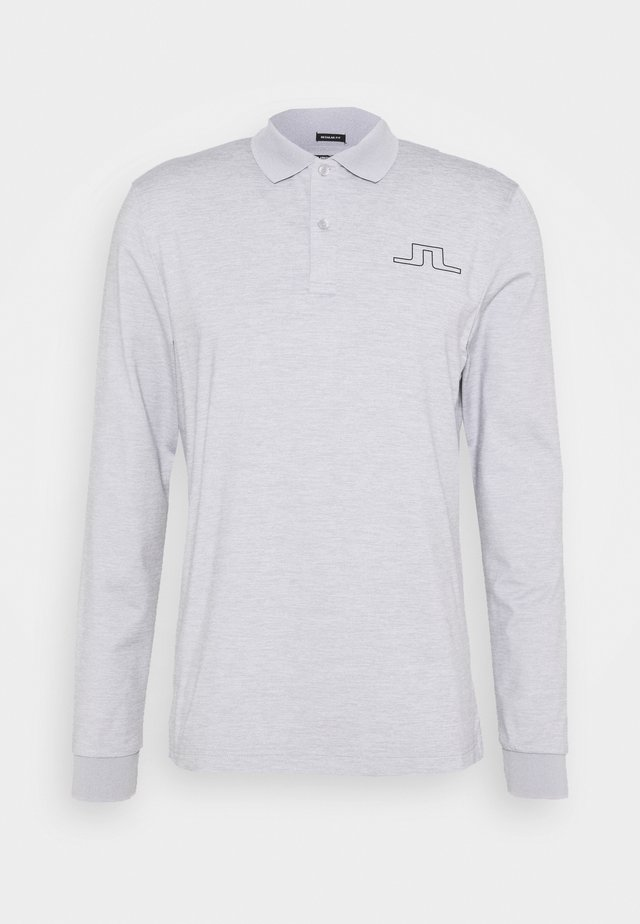 BRIDGE REG FIT GOLF - Polo - stone grey melange