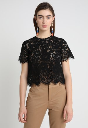 BOXY - Blouse - black