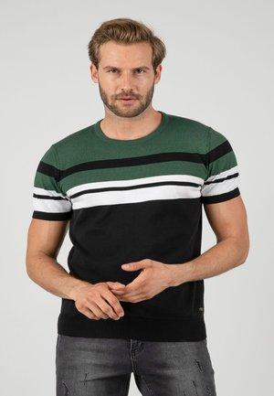 T-shirt med print - black-green