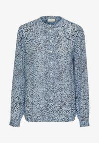 Kaffe - Button-down blouse - chambray blue, black dot - 4