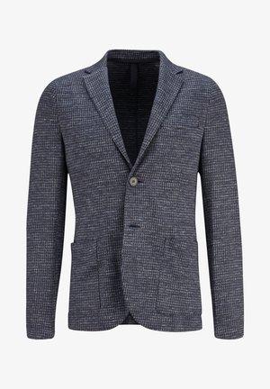 LEINENBLAZER MIT HAHNENTRITT IN NAVY - Blazer jacket - navy blue 358