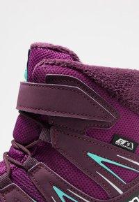 Salomon - XA PRO 3D WINTER TS CSWP - Winter boots - dark purple/potent purple/atlantis - 2
