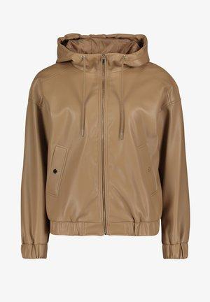 Faux leather jacket - crunchy almond