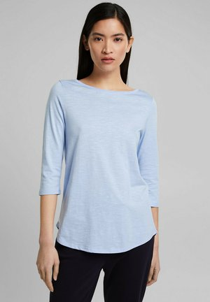 Long sleeved top - pastel blue