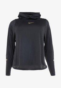 Nike Performance - GLAM MID PLUS - Funkční triko - black/metallic gold - 4