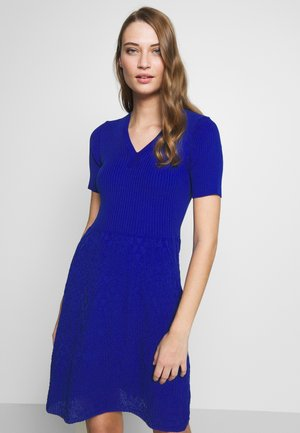 DRESS - Pletené šaty - blue