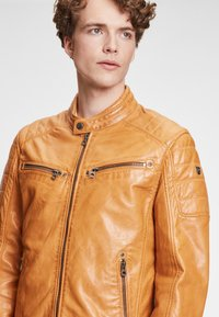 Gipsy - DERRY - Leather jacket - yellow - 3
