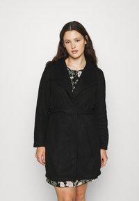 Vero Moda Curve - VMBRUSHEDDORA JACKET - Classic coat - black - 0