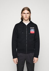 Bally - Zip-up hoodie - navy - 0