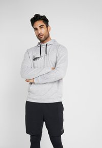 Nike Performance - DRY HOODIE - Hoodie - grey heather - 0