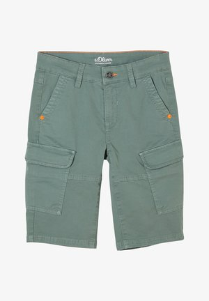SLIM FIT - Shorts - petrol