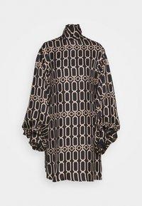 Victoria Beckham - BISHOP SLEEVE DETAIL MINI - Koktejlové šaty/ šaty na párty - dark navy/gold - 7