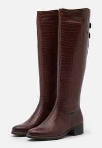 Tamaris - Vysoká obuv - mahogany - 2
