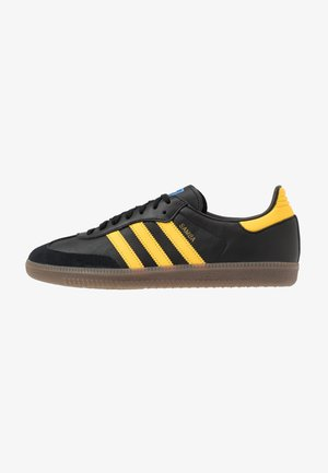 SAMBA - Sneakers laag - core black/equipment yellow/blu bird