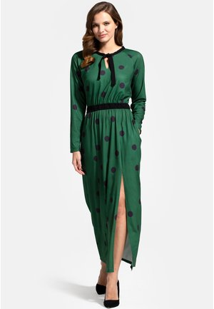 WITH NECK TIE - Maxi dress - bottle green