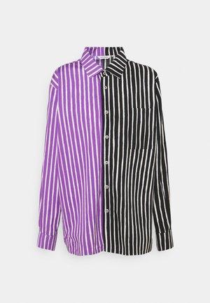 Button-down blouse - violet/black
