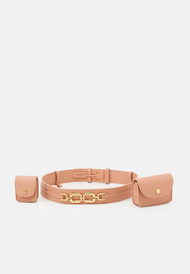 NEW MORSETTI LOGO BELT SET - Belte - rose gold-coloured