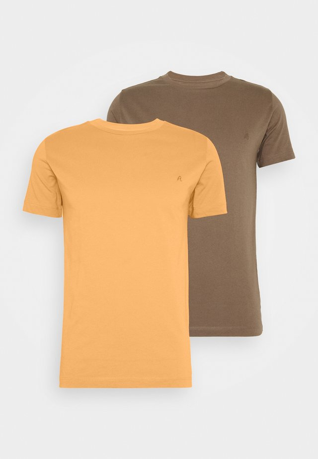 2 PACK  - Basic T-shirt - light orange/brown