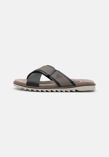 LIMON - Mules - black/grey