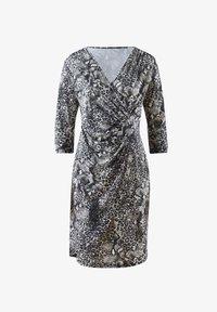 Alba Moda - Jersey dress - grau,weiß - 2