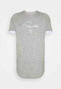 SIKSILK - FADE PIPING TECH TEE - T-shirts basic - grey/pacific - 3