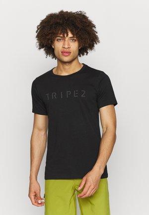 TUUR EEN MEN LOGO - T-shirt z nadrukiem - anthracite