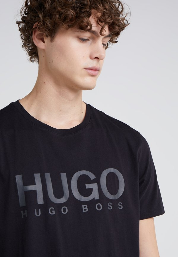 HUGO DOLIVE - T-shirt z nadrukiem - black/czarny Odzież Męska JNFC