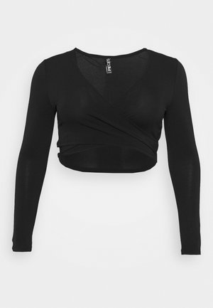 PCJIANNA CROPPED - Long sleeved top - black