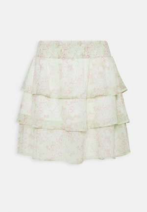 EXCLUSIVE ARCHER FRILL SKIRT - Mini skirt - green