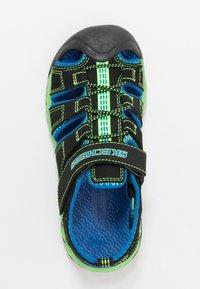 Skechers - FLEX-FLOW - Chodecké sandály - black/blue/lime - 1