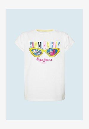 DIANA - Print T-shirt - optic weiss
