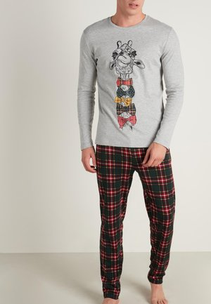 Pyjama set - light grey blend giraffe print