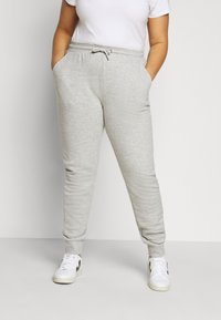Fila Plus - EIDER PANTS - Verryttelyhousut - light grey melange bros - 0