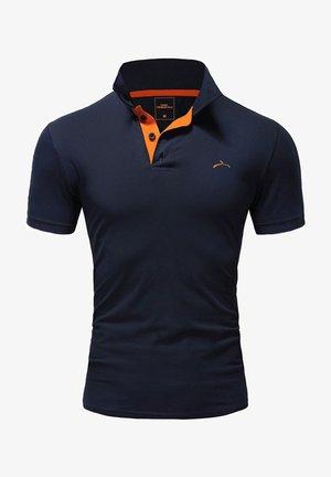 Polo shirt - navy/orange