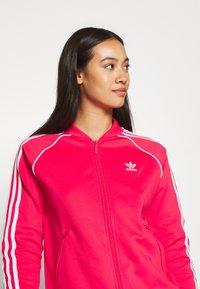 adidas Originals - TRACKTOP - Treningsjakke - power pink/white - 4