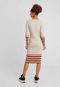 Vila - VIHELENI STRIPE DRESS - Jumper dress - natural melange/toffee - 3