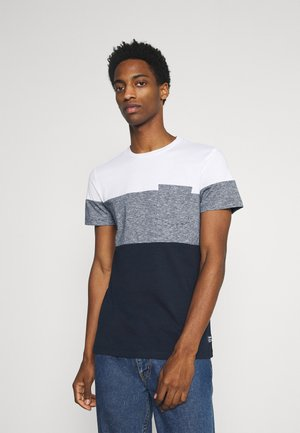 CUTLINE - Print T-shirt - sky captain blue