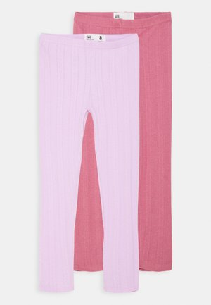 HUGGIE TIGHTS 2 PACK - Legging - pale violet/very berry