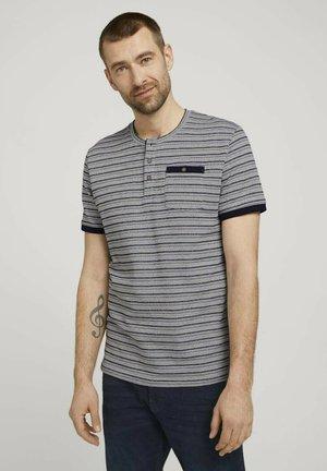 GESTREIFTES - Print T-shirt - sailor blue waffle stripe