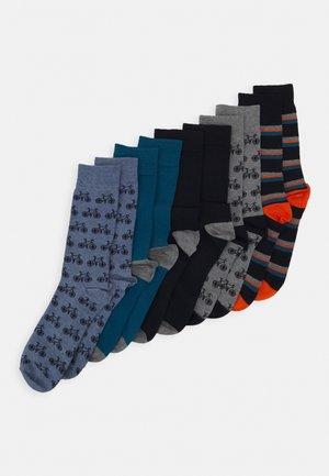 BIKE MOTIF 5 PACK - Socks - grey
