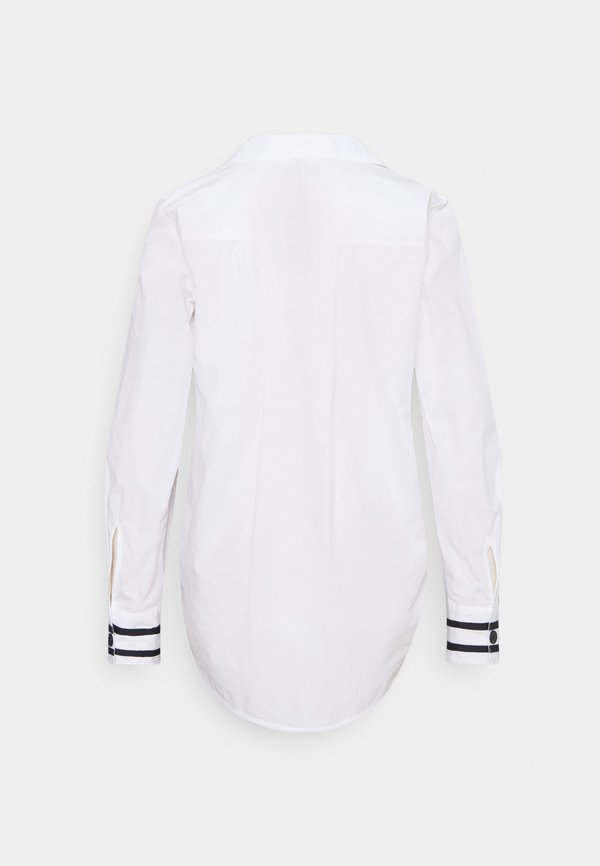 Tommy Hilfiger CRISP POP RELAXED BLOUSE - Bluzka - optic white/biały DWYA