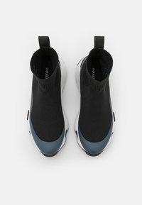 Emporio Armani - Baskets montantes - black/shiny gunmetal - 4